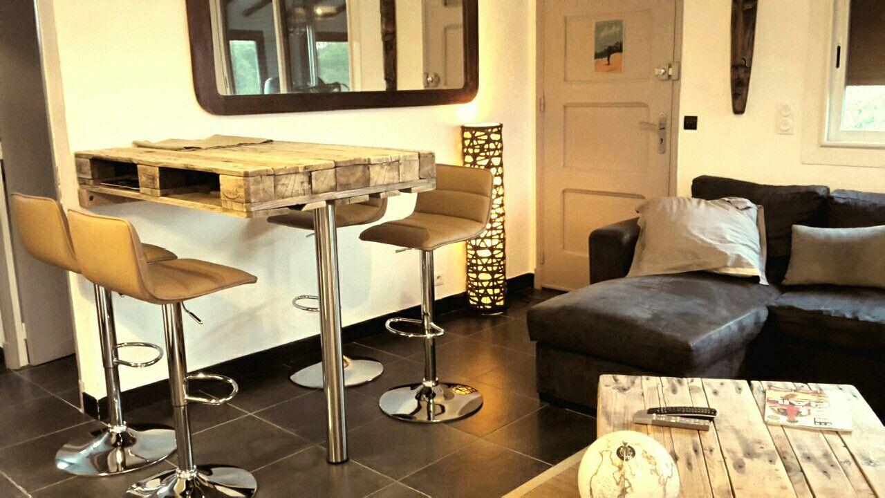 Table bar en palettes | meubles en palettes | Pinterest | Bar