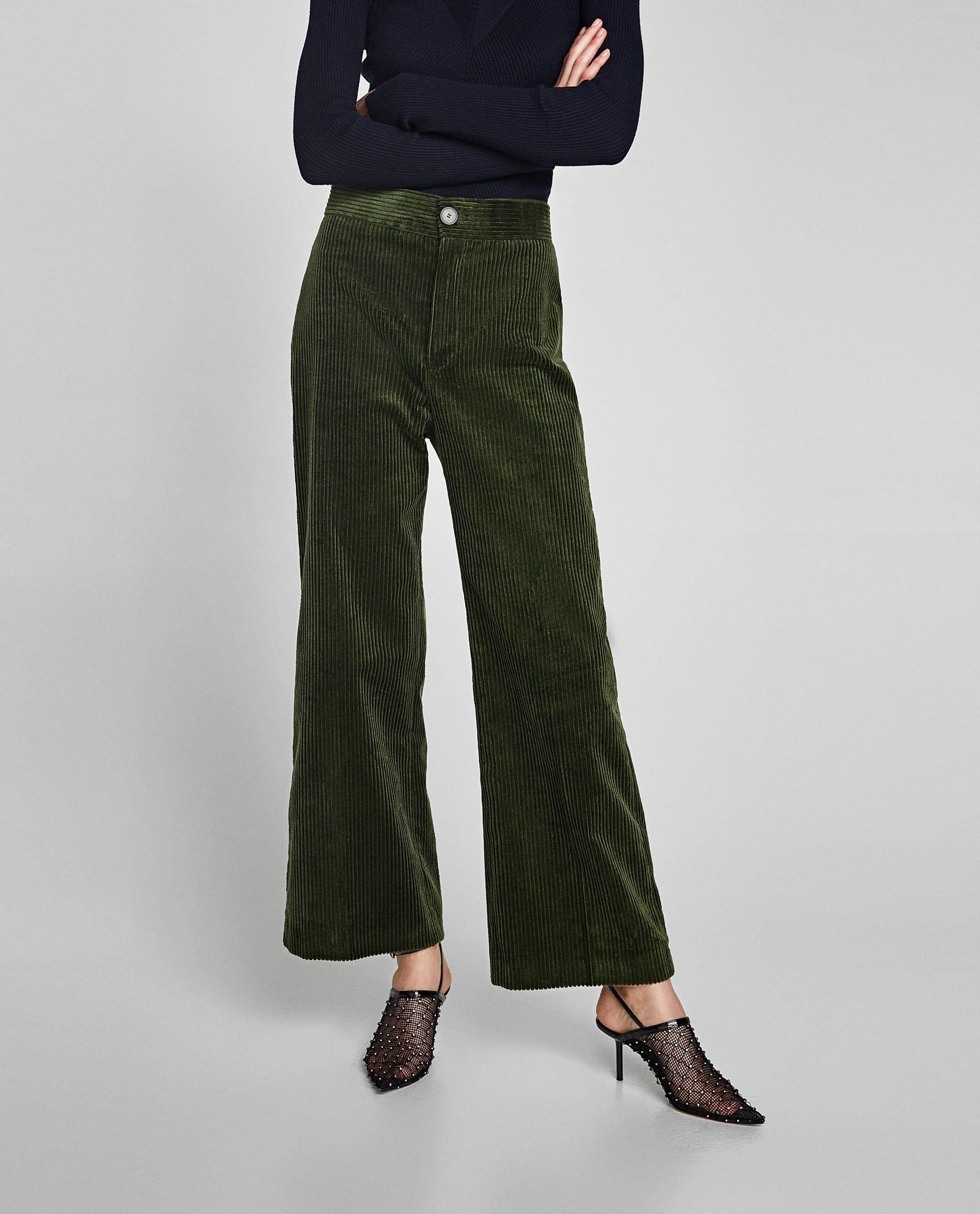Imagen 2 De Pantalon Pana Gruesa De Zara Pantalones De Pana Pantalones Mujer Pana