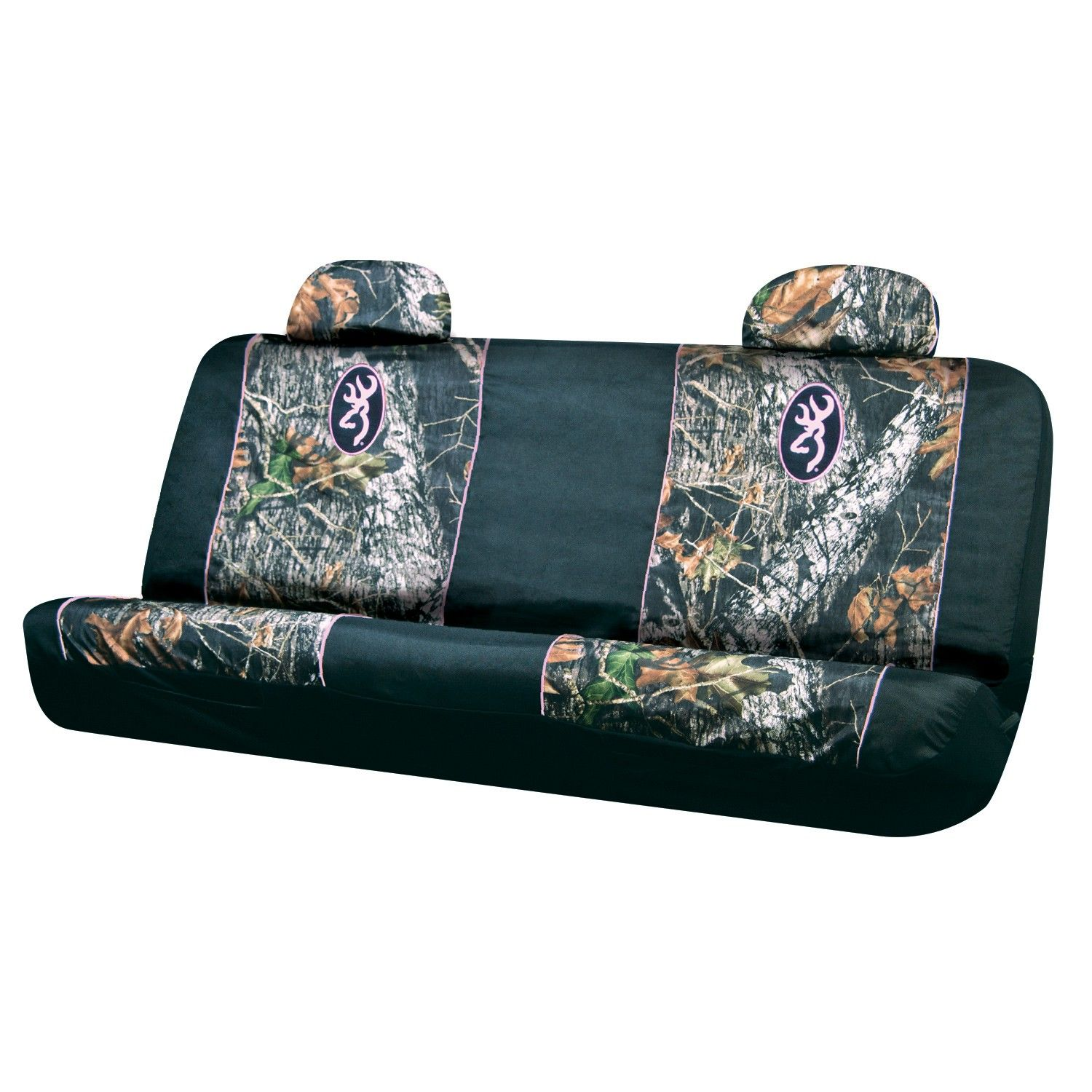 Browning Mossy Oak Pink Trim Bench Seat Cover Camo Truck
