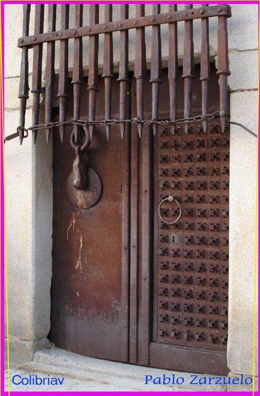 Avila Spain Door Of Old Castle Castle Doors Cool Doors Unique Doors