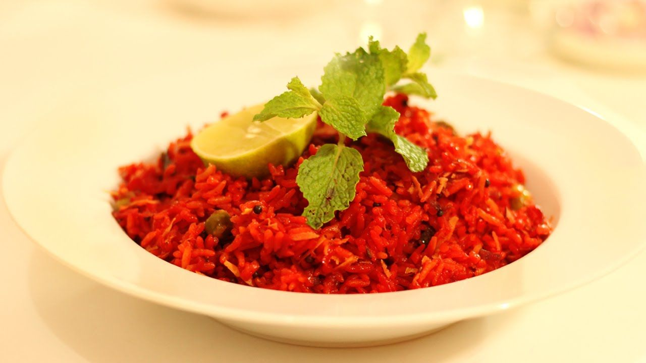Beetroot red rice red pulao healthy vegetarian south indian beetroot red rice red pulao healthy vegetarian south indian recipe forumfinder Images