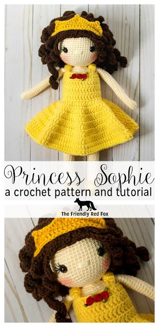 Free Crochet Doll Pattern The Friendly Sophie The Friendly Red