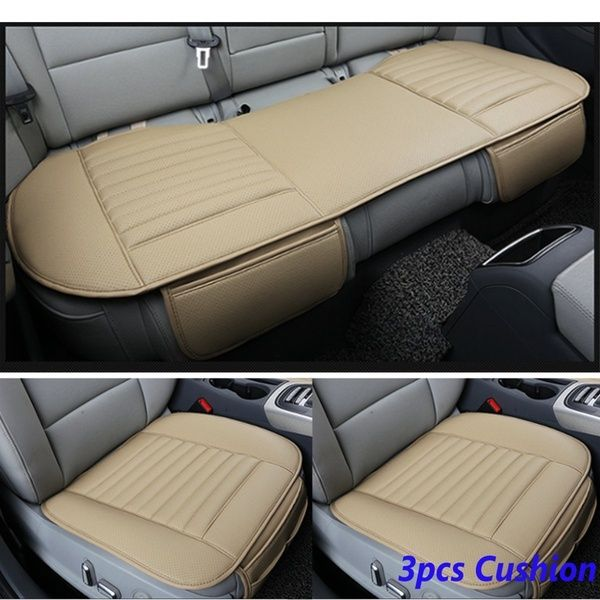 Pleasing Front Rear Car Seat Cover Breathable Bamboo Pad Mat Pu Squirreltailoven Fun Painted Chair Ideas Images Squirreltailovenorg