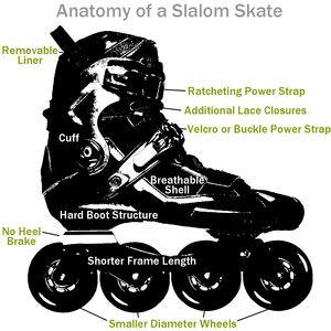 Anatomy of a slalom skate
