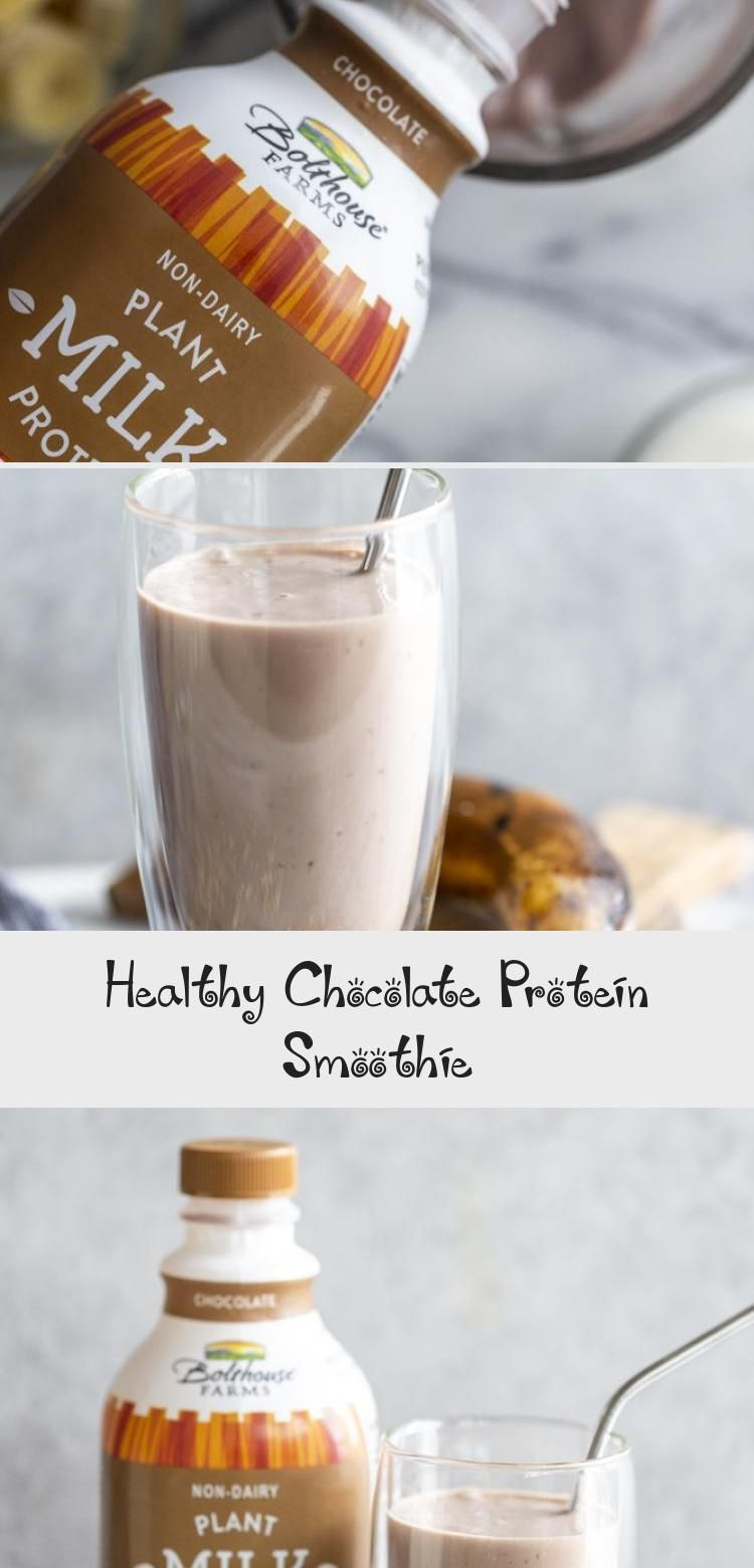 Healthy Chocolate Protein Smoothie #healthychocolateshakes New! Get your chocolate fix with this Healthy Chocolate Shake I made in partnership with @bolthousefarms and @krogerco . This Healthy Chocolate Protein Smoothie has banana, peanut butter, oats, Greek yogurt (or vegan yogurt for a vegan version!)  and plant based protein milk.  This smoothie makes a satisfying snack or meal. @fredmeyerstores #BolthouseFarmsatKroger #Sponsored #SmoothieForKids #SmoothieMinceur #SmoothiePackaging #Raspberry #healthychocolateshakes