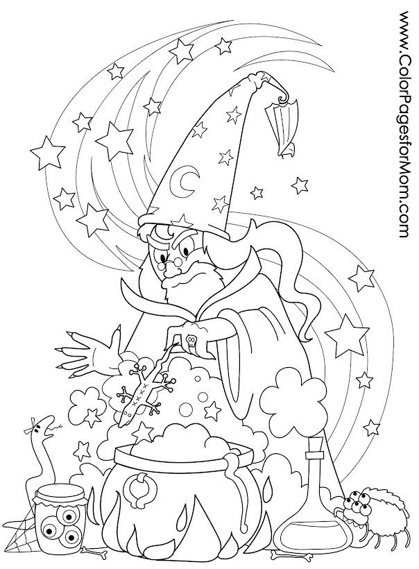 Halloween Adult Witch Coloring Pages