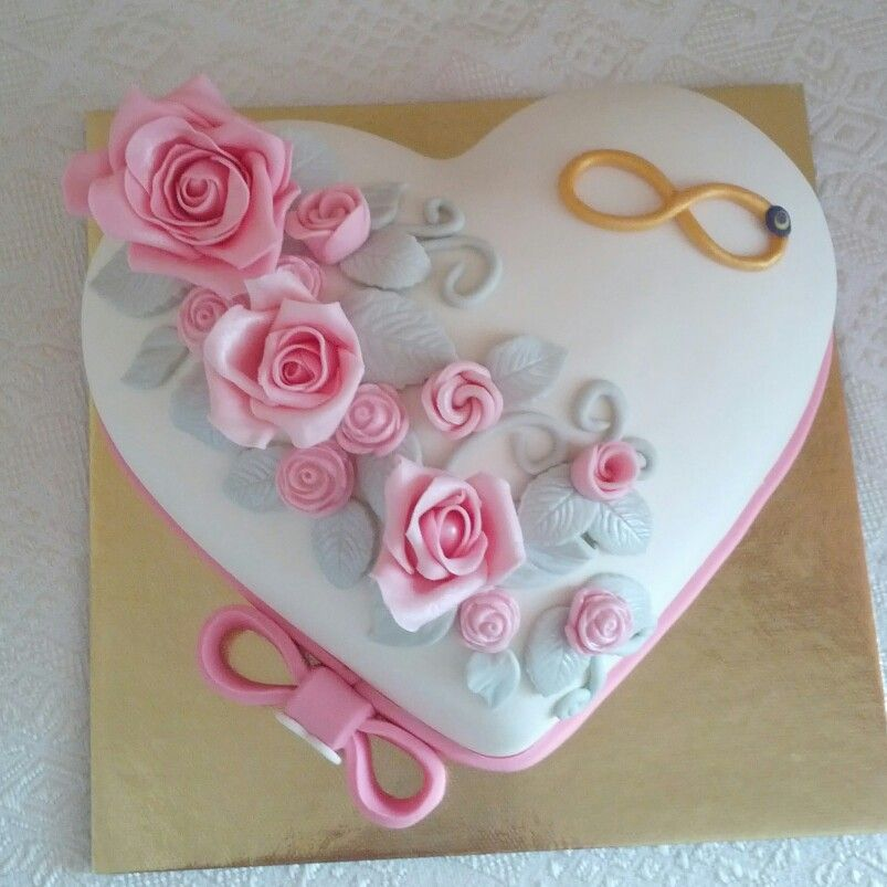 Heart Rose Cake Pink Birthday Cakes Beautiful Cake Designs Heart Cakes