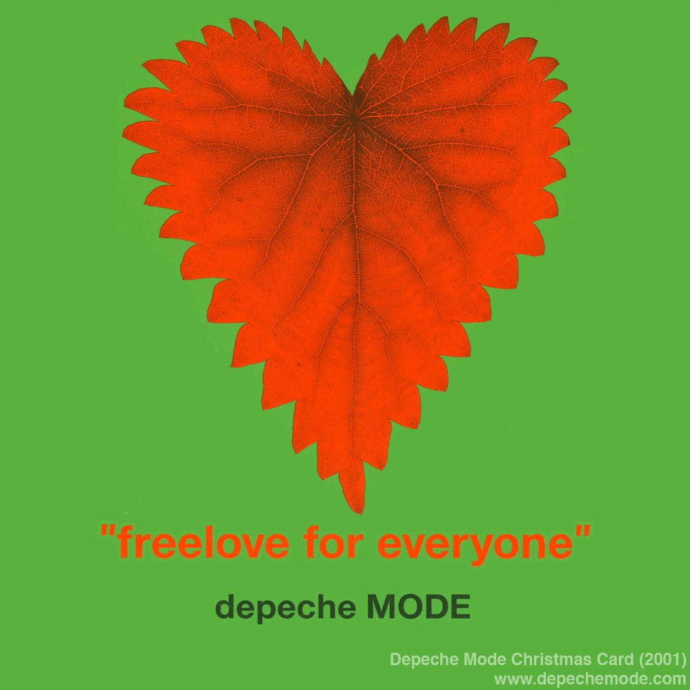 Freelove For Everyone. The Depeche Mode Christmas Card