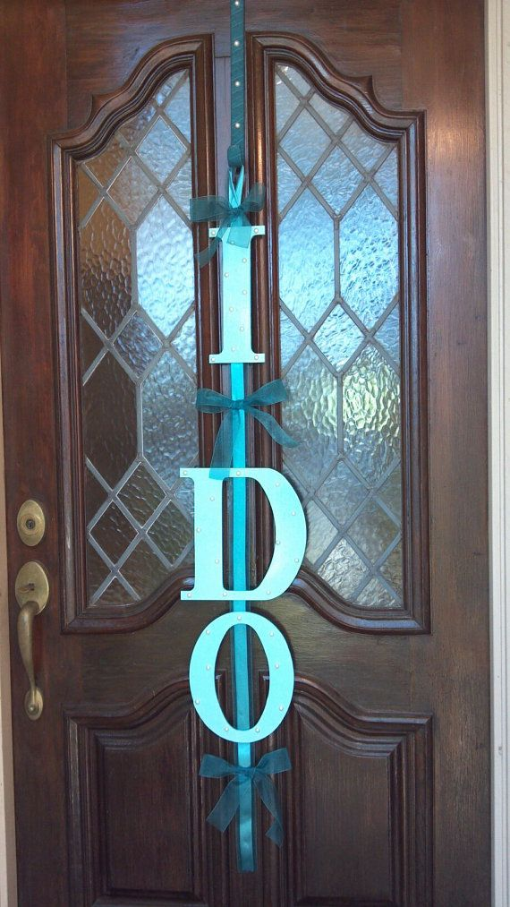 Door decoration for a bridal shower engagement party or wedding weekend. & Door decoration for a bridal shower engagement party or wedding ...
