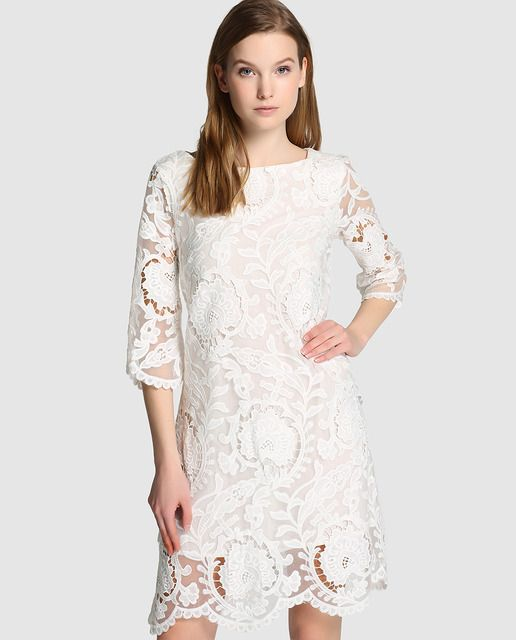 db3dd84fe Vestido de mujer Rosalita McGee blanco de guipur | ROPA FEMENINA en ...