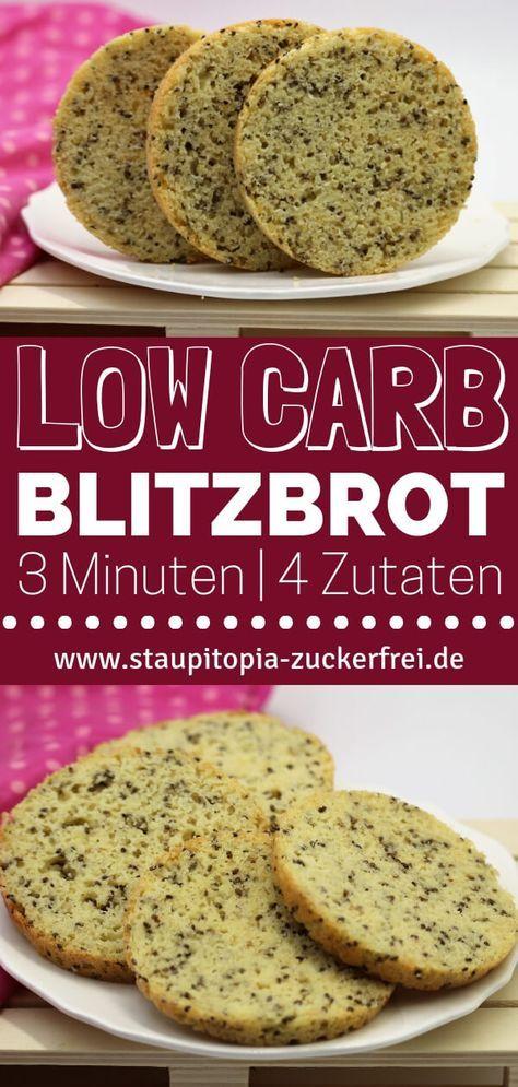 Low Carb Brot: 3 Minuten, 4 Zutaten, 5 g Kohlenhydrate - Staupitopia Zuckerfrei