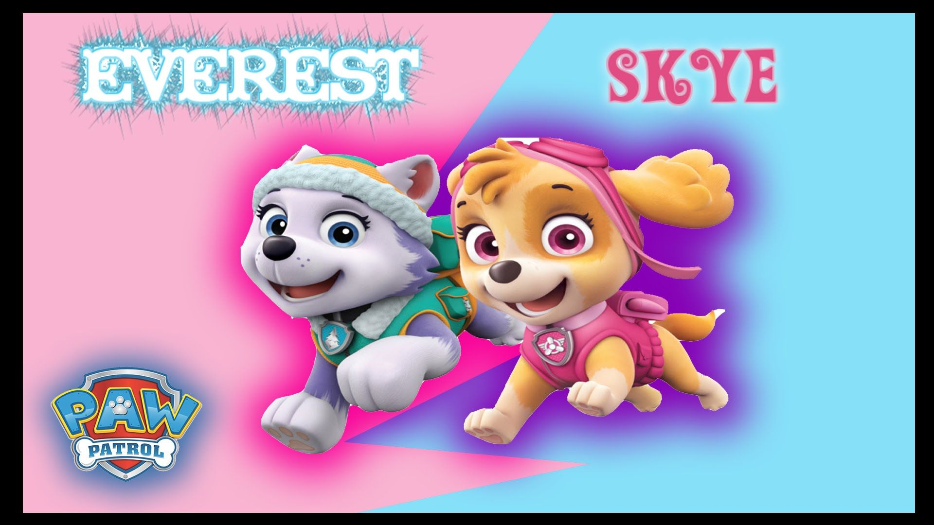 Everest And Skye Paw Patrol Pictures Paw Patrol Skye And Everest 2016 Coloring Page For Kids Coloring