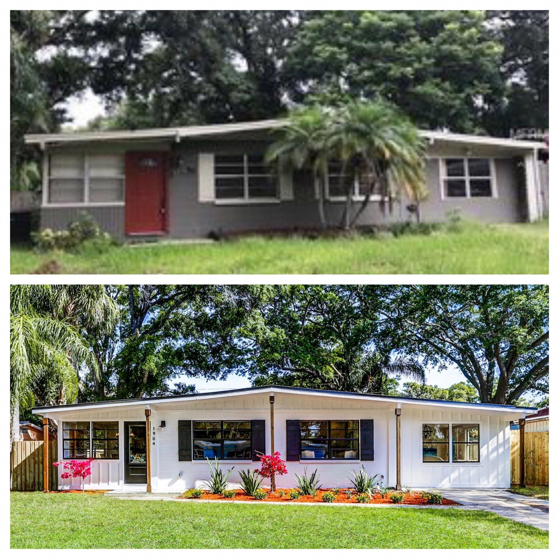 Ranch Style House Makeover Before And After Board And Batten