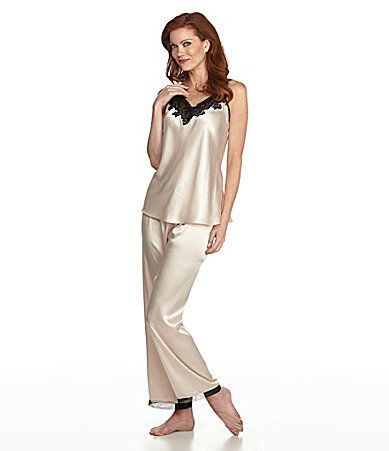 2f09101b0647 Oscar de la Renta Elegant Lace Cami Pajamas  Dillards Lingerie Sleepwear