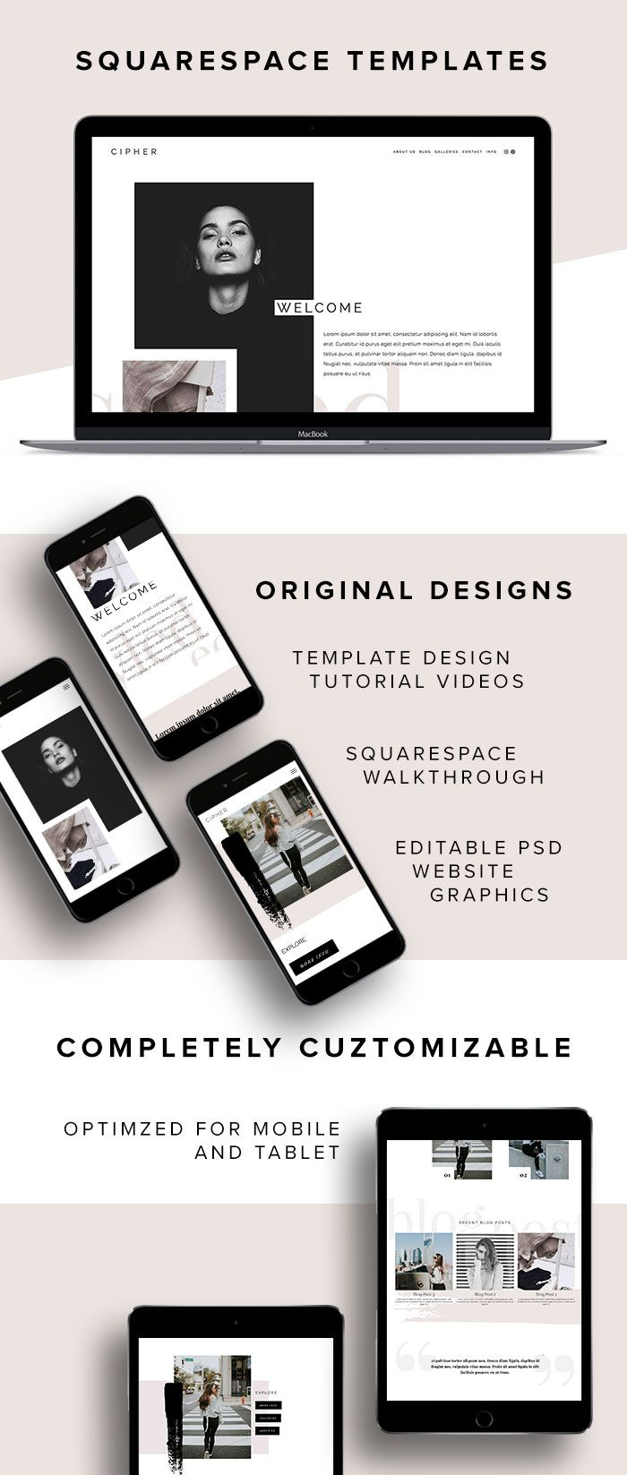 Cipher squarespace template by big cat creative squarespace cipher squarespace template by big cat creative squarespace templates website templates web design templates web design inspiration small business flashek Gallery