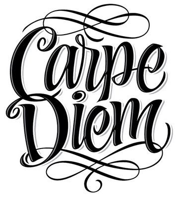 Whipped Cream Lettering Carpe Diem Typography Letters
