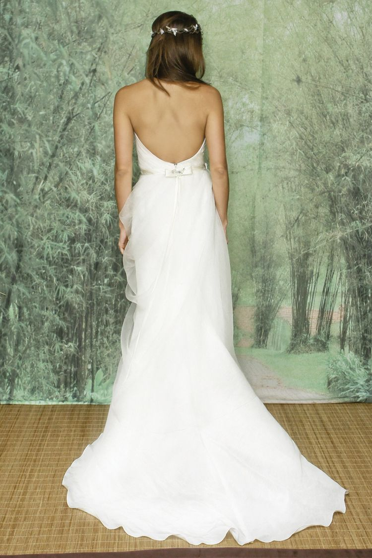 Lace wedding dress open back say yes dress  Adele Wechsler Eco Friendly Wedding Gowns  Adele Gowns and Weddings