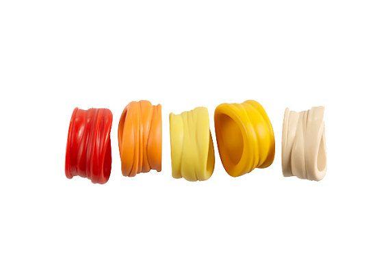 Squashed - resin rings