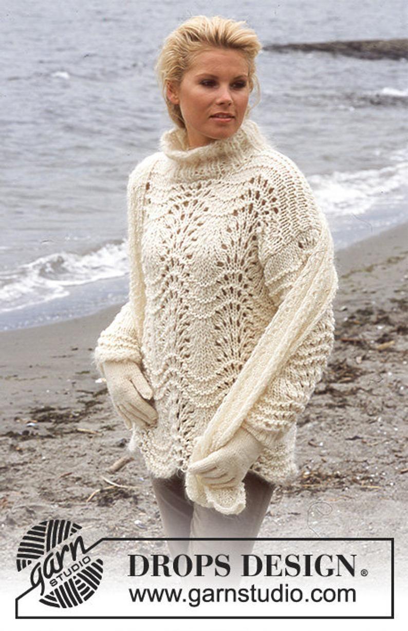 Coarse knit women/'s wave pattern sweater Campfire by drops design