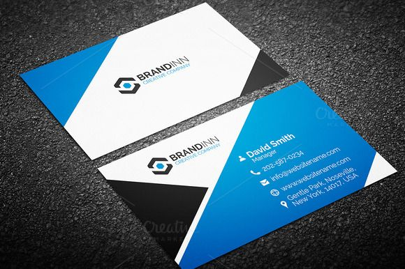 Modern business card template business cards creative business card 16 by arslan on creative market cheaphphosting Image collections