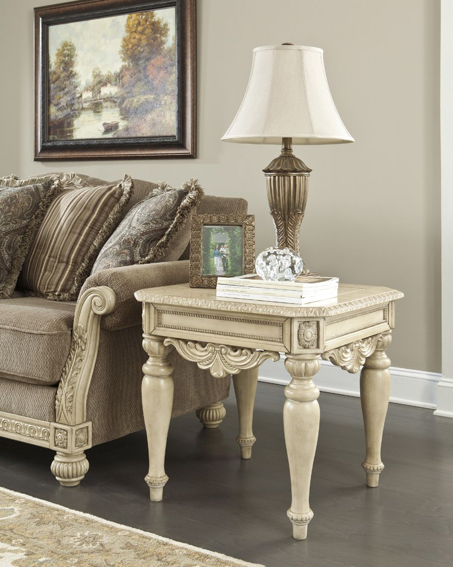 Ashley Furniture Bay Area: The 'Ortanique' End Table Compliments The Showood Trim Of