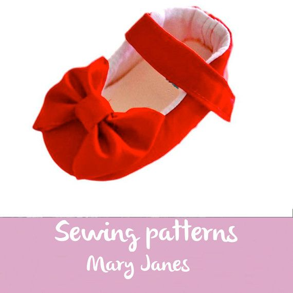 Bow shoes PATTERN 45 accesory baby shoe by KidsSewingPatterns
