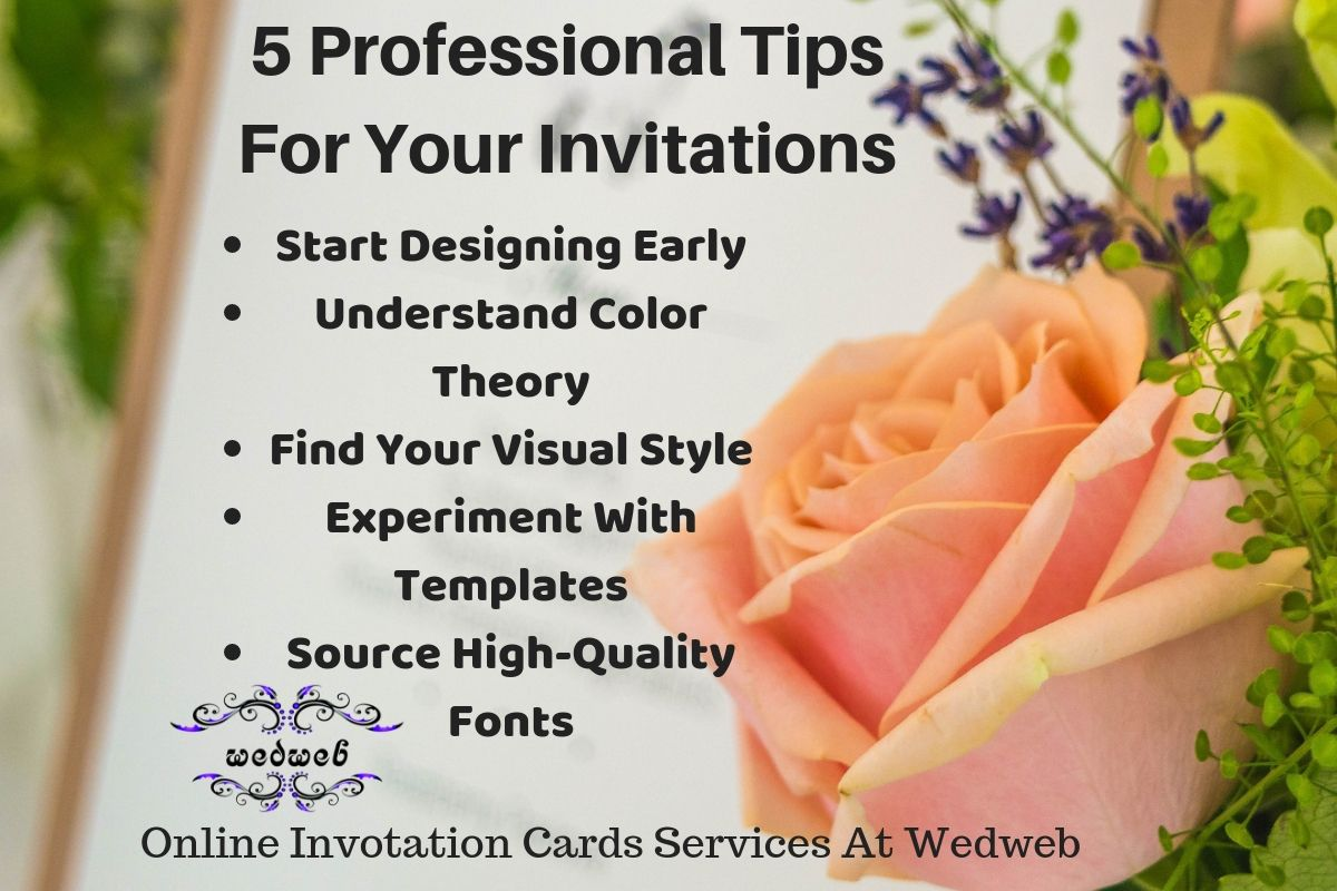 5 Professional Tips For Your Online Invitations Cards Customize