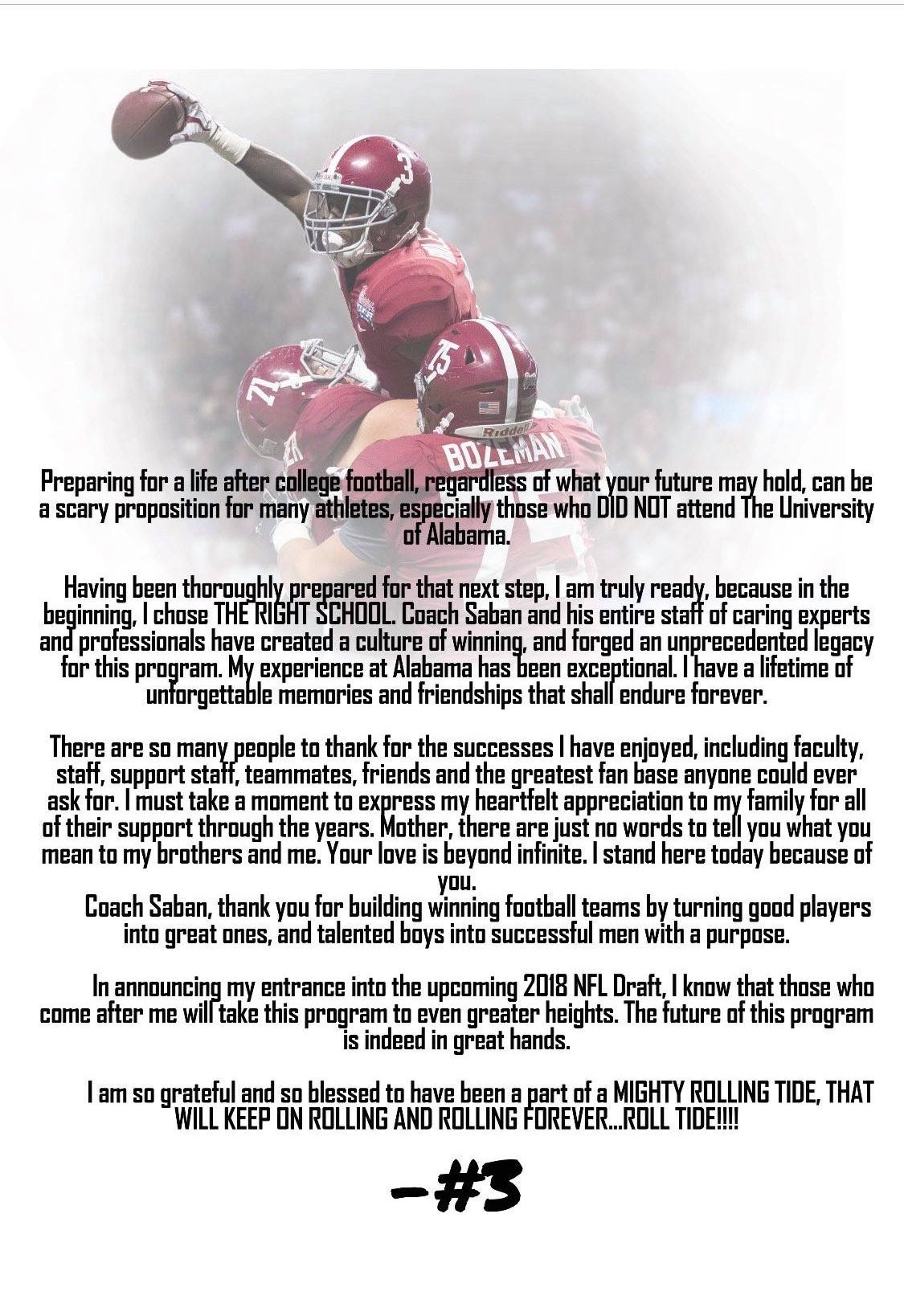 Calvin Ridley 3 Wr 2015 2017 The Ridler Life After College Alabama Crimson Tide Roll Tide