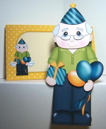 Card Gallery - 3D On the Shelf Card Kit - Little Party Old Man Mason