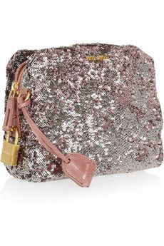 Miu Miu two-tone sequined clutch, like a breath of fresh spring air! 0059978484