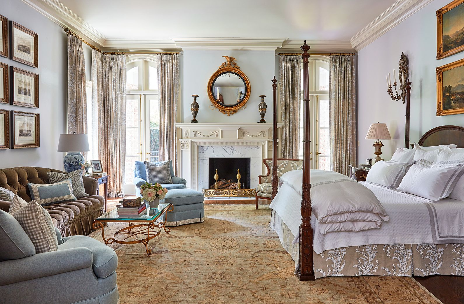 With Already Established Grounds And Interiors We Worked With The Lovely Homeowners In Updating Many Of Their Spaces U Master Bedroom Home Elegant Home Decor Master bedroom in the white house
