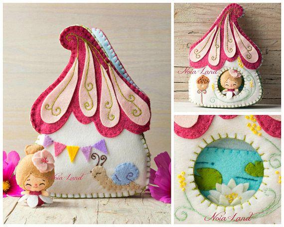 Fairy house activity book. Soft book | Basteln mit kindern, Nähideen ...