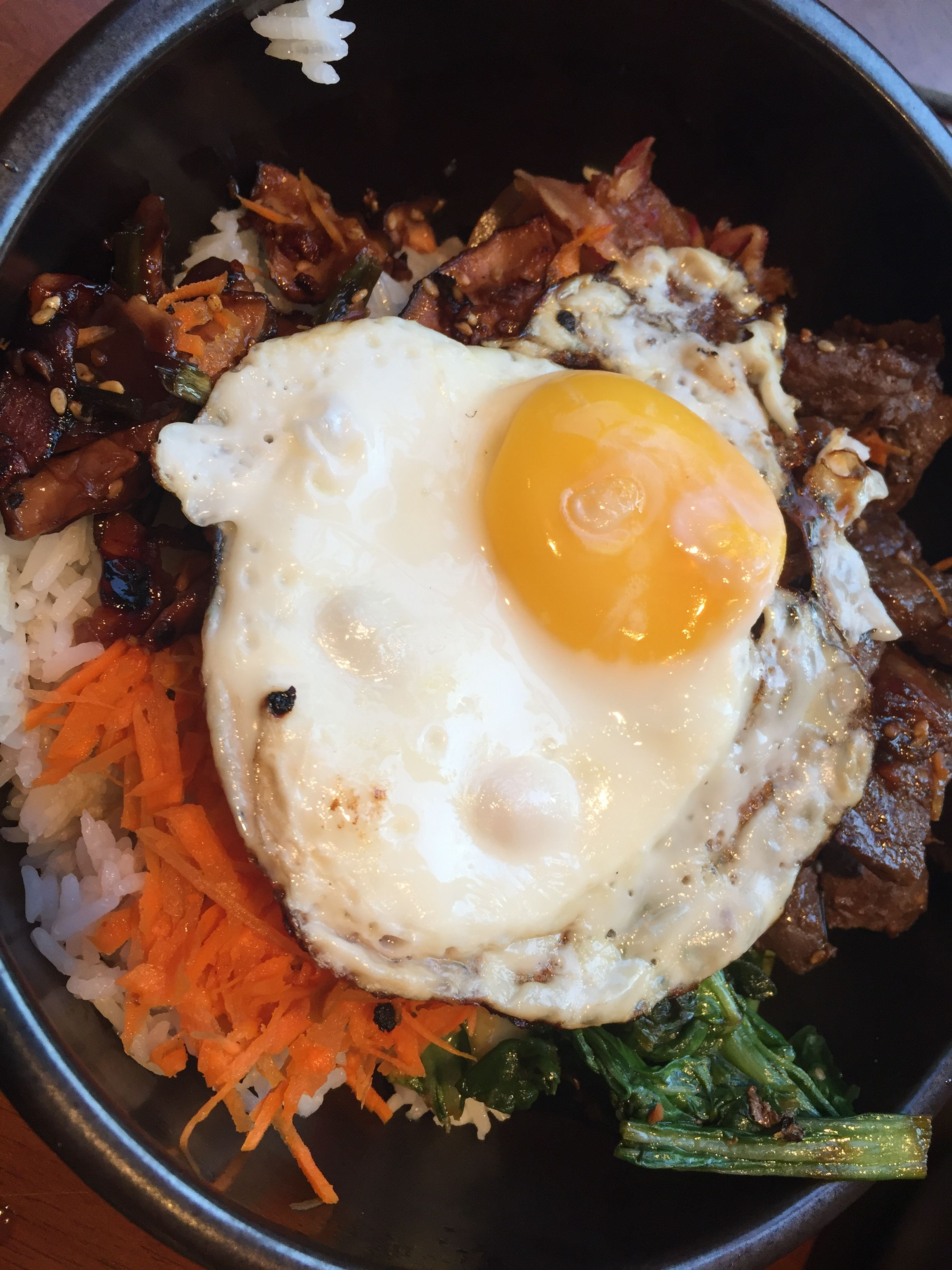 I've actually combined the veggies and egg from this with the Skinnytaste Korean Beef Bowl to make an easy dish that Sam, Dan, and I like. Haven't made the sauce from this recipe.