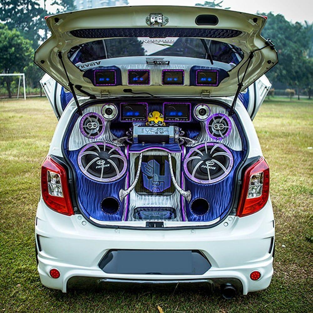 Modifikasi Audio Mobil Toyota Agya Modifikasi Mobil Mobil Konsep Mobil