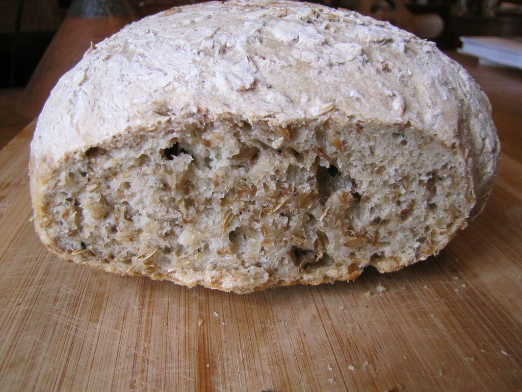 My starting point sourdough spent grain bread not