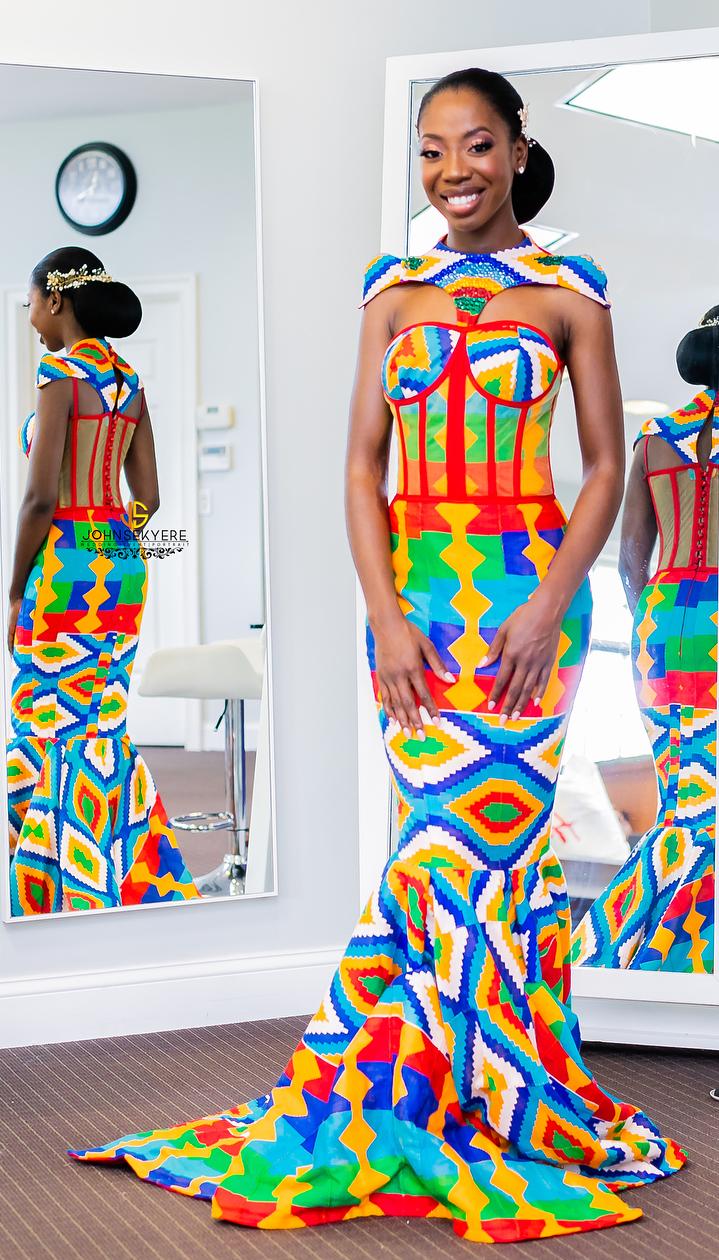 African wedding dresses for guests  kente wedding fashion dress African fashion Ankara kitenge