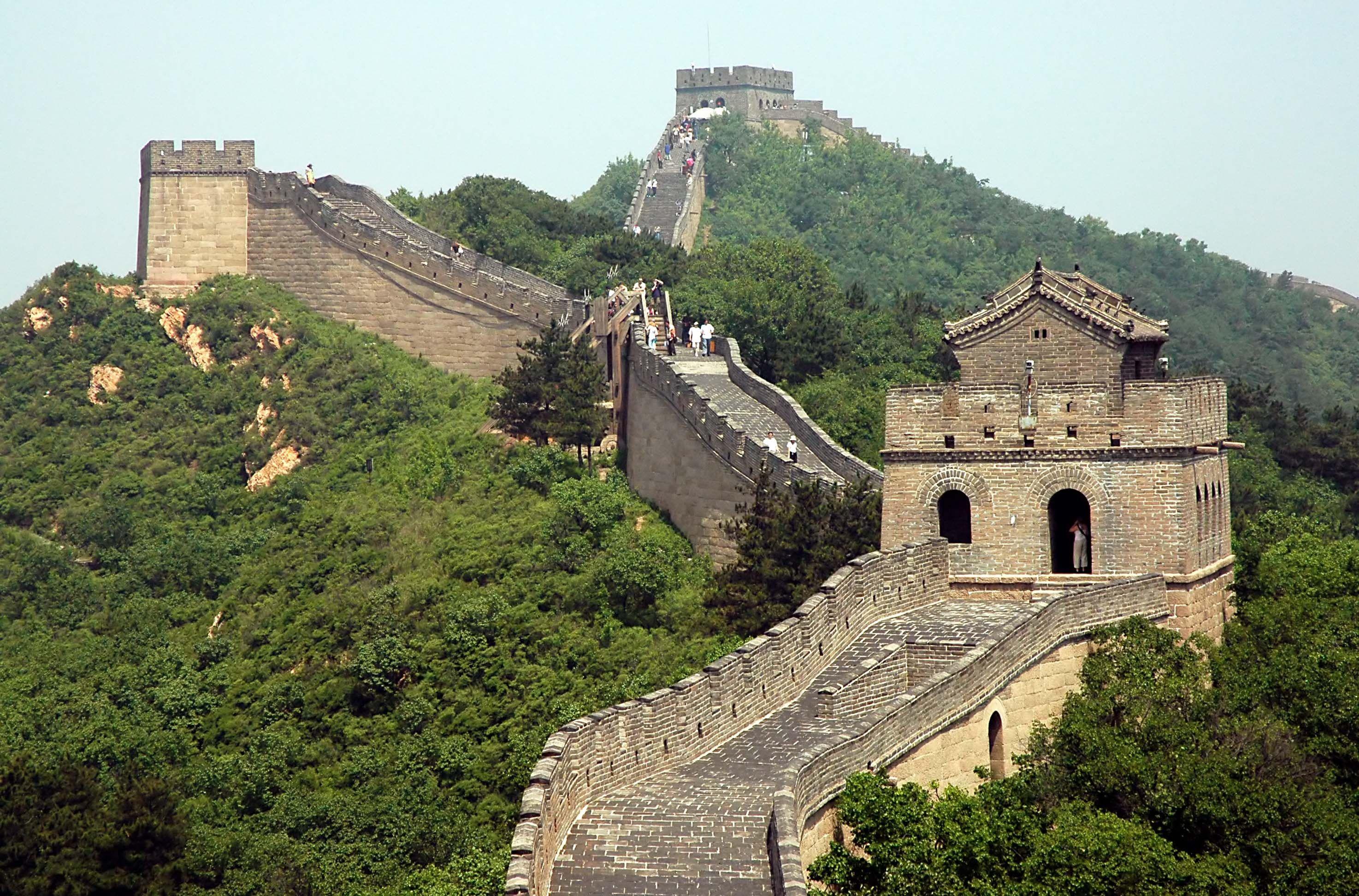 China Chinesische Mauer Weltwunder Chinesische Mauer Und Chinese Wall