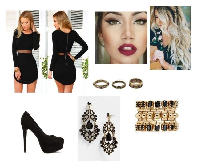 """""""Untitled #516"""" by ray-dany ❤ liked on Polyvore featuring Forever 21, Eddie Borgo and Nly Shoes"""