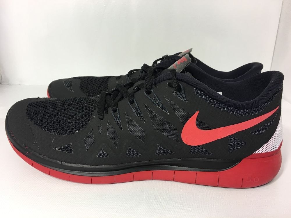 online store 62949 5484f Nike Free 5 0 Mens Running Shoes 642198 060 Blk Gym Red Anthracite Size 11 5   eBay