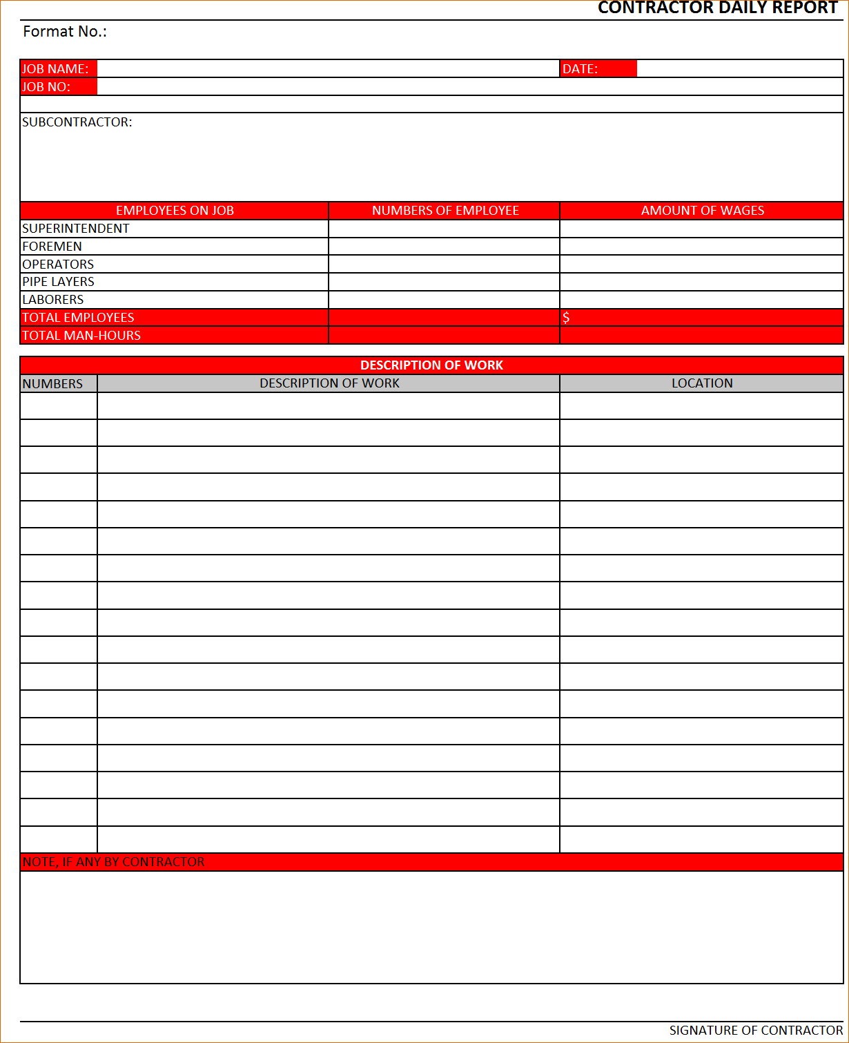 11 Daily Report Template Verification Letters Construction Excel Invitation Templates