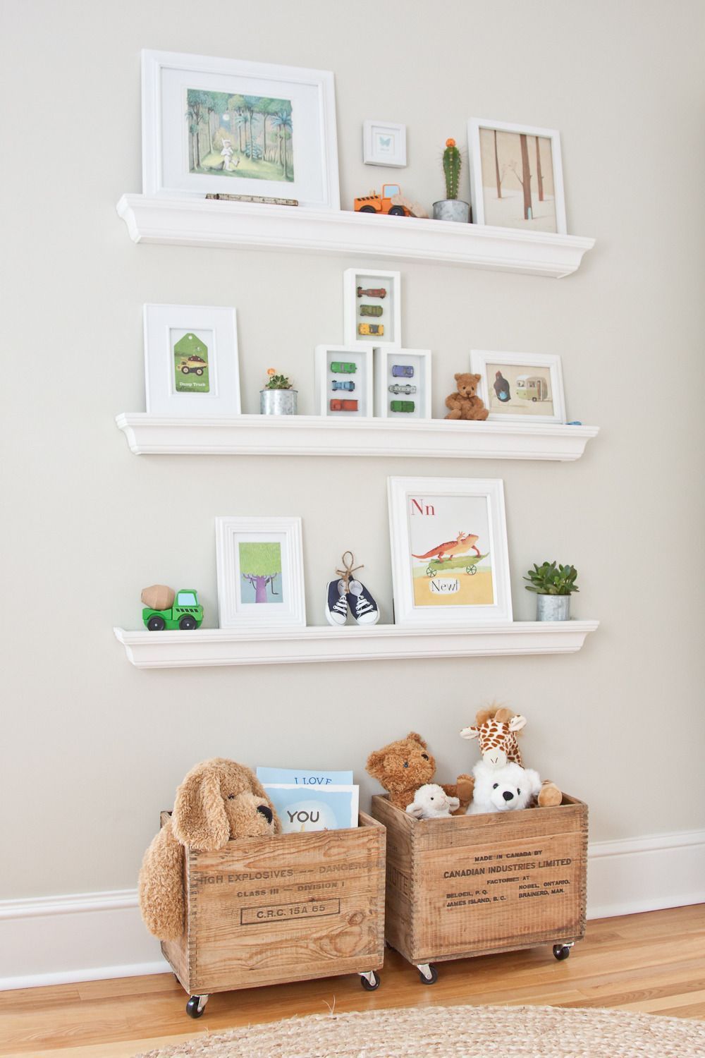 Cooper\'s Soothing Neutral Nursery | Toy display, Neutral nurseries ...