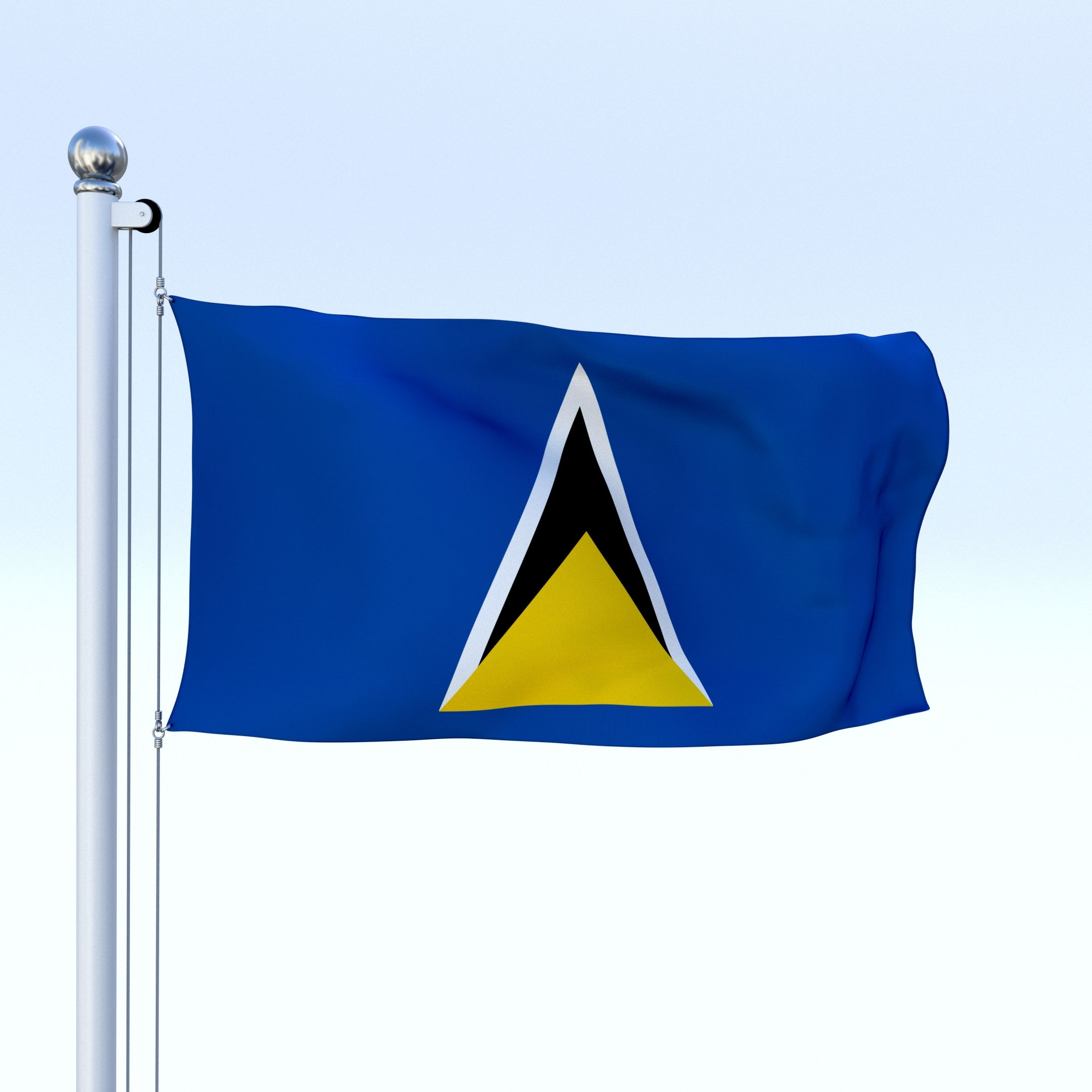 Animated Saint Lucia Flag Saint Animated Flag Lucia St Lucia Flag Flag Lucia