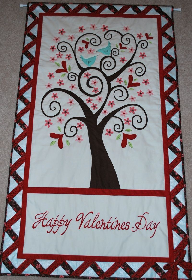 Valentine S Day Applique Quilts Quilted Wall Hangings Quilt Making