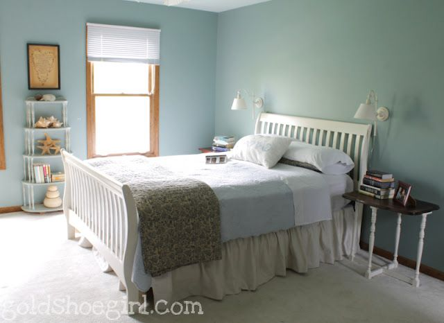 Diy Dropcloth Bed Skirt Use The Easy Gathering Tape From Other Post To Make A Bedskirt And Velcro For Cleaning