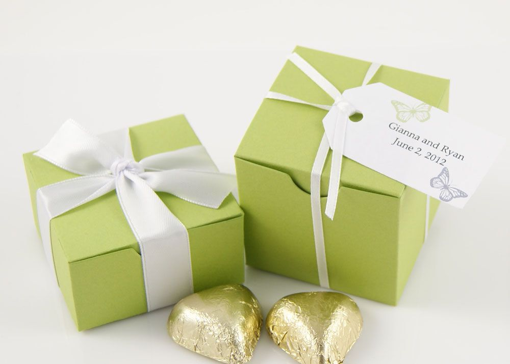 Hummingbird Wedding Favor Boxes Vivid Green By Weddingambience