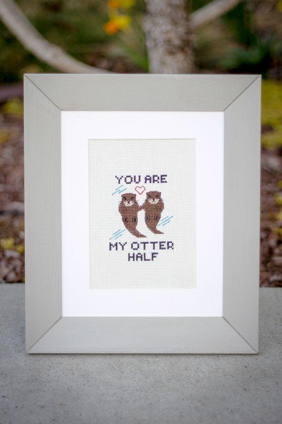 Free Otter Pattern | Cross Stitch | Pinterest | Cross Stitch, Cross ...