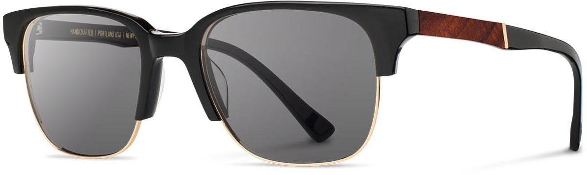 Shwood - Newport 52mm Acetate Black / Grey Polarized Sunglasses