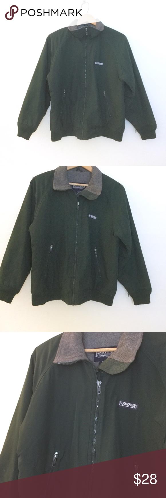 Landsu end vintage squall fleece jacket pinterest