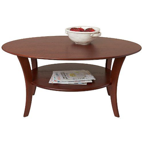 Manchester Wood Oval Cherry Coffee Table Heritage
