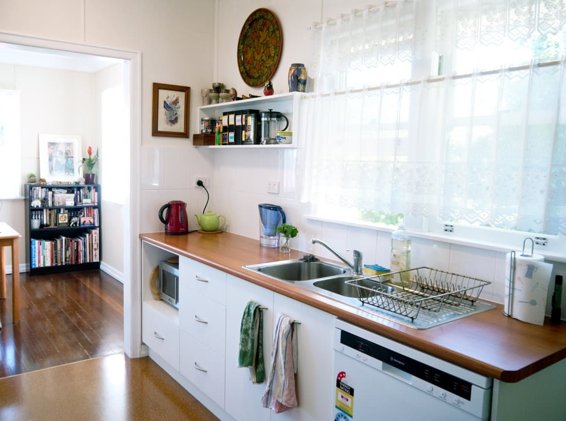 A Dangerous Dated Kitchen Gets A Much Needed Makeover Kitchen Kitchen Cabinets Galley Kitchen